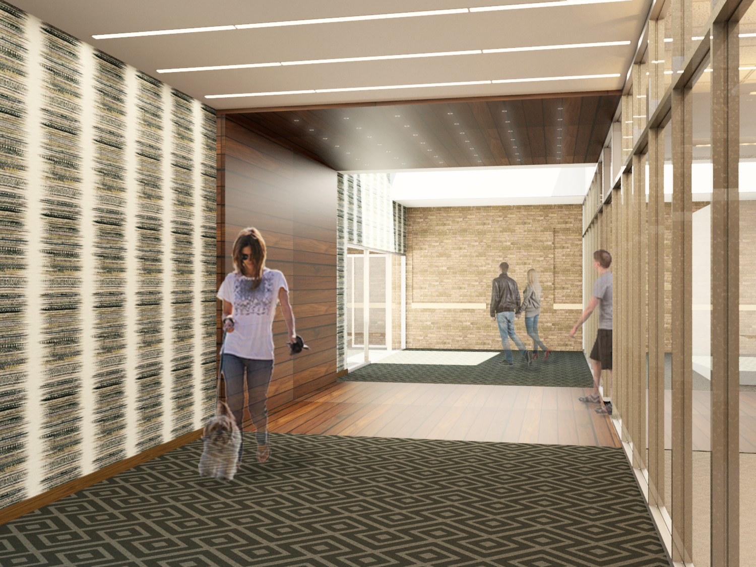 The building will include a slew of amenities including an upscale fitness center.
