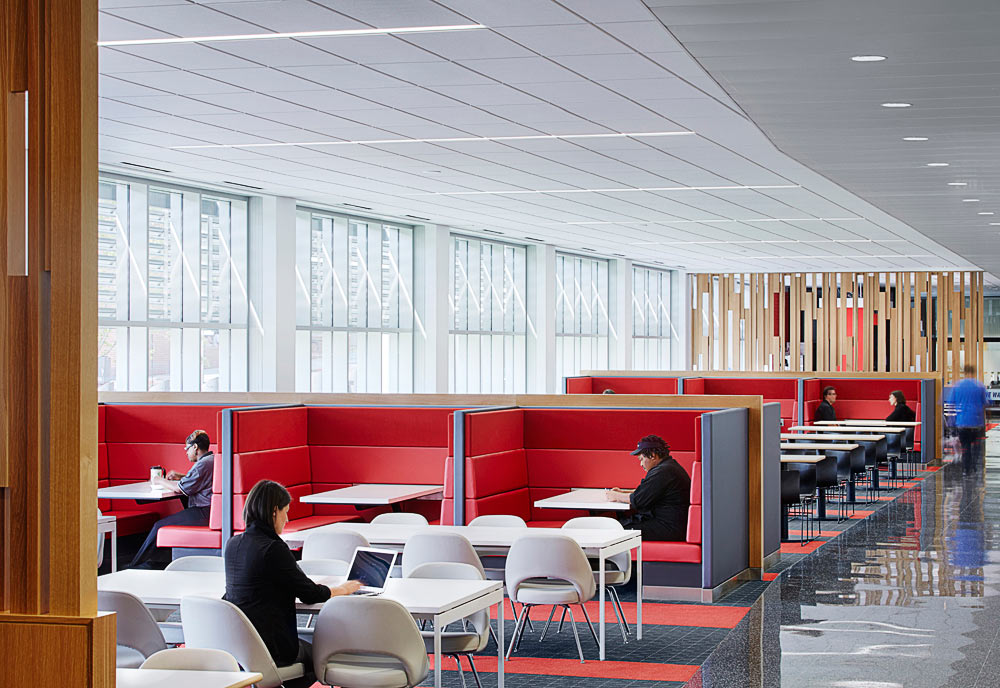 New shared workspaces offer the modern employee more options for different types of workstations.