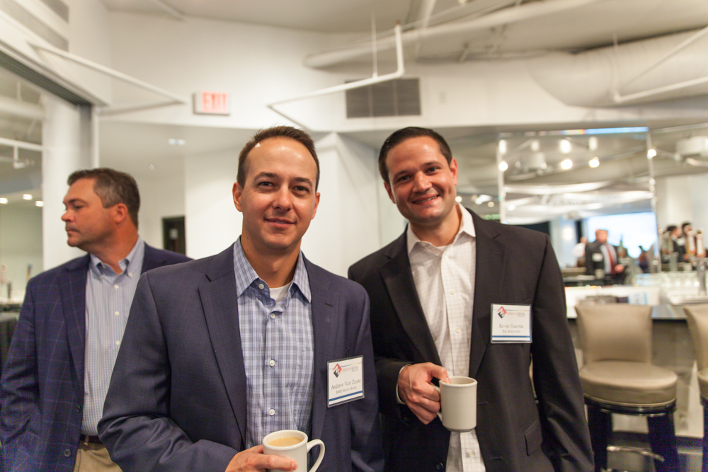 Andrew VanZante of BMO Harris Bank and Kevin Guertin of Big Industrial. Photo by Jacia Phillips.