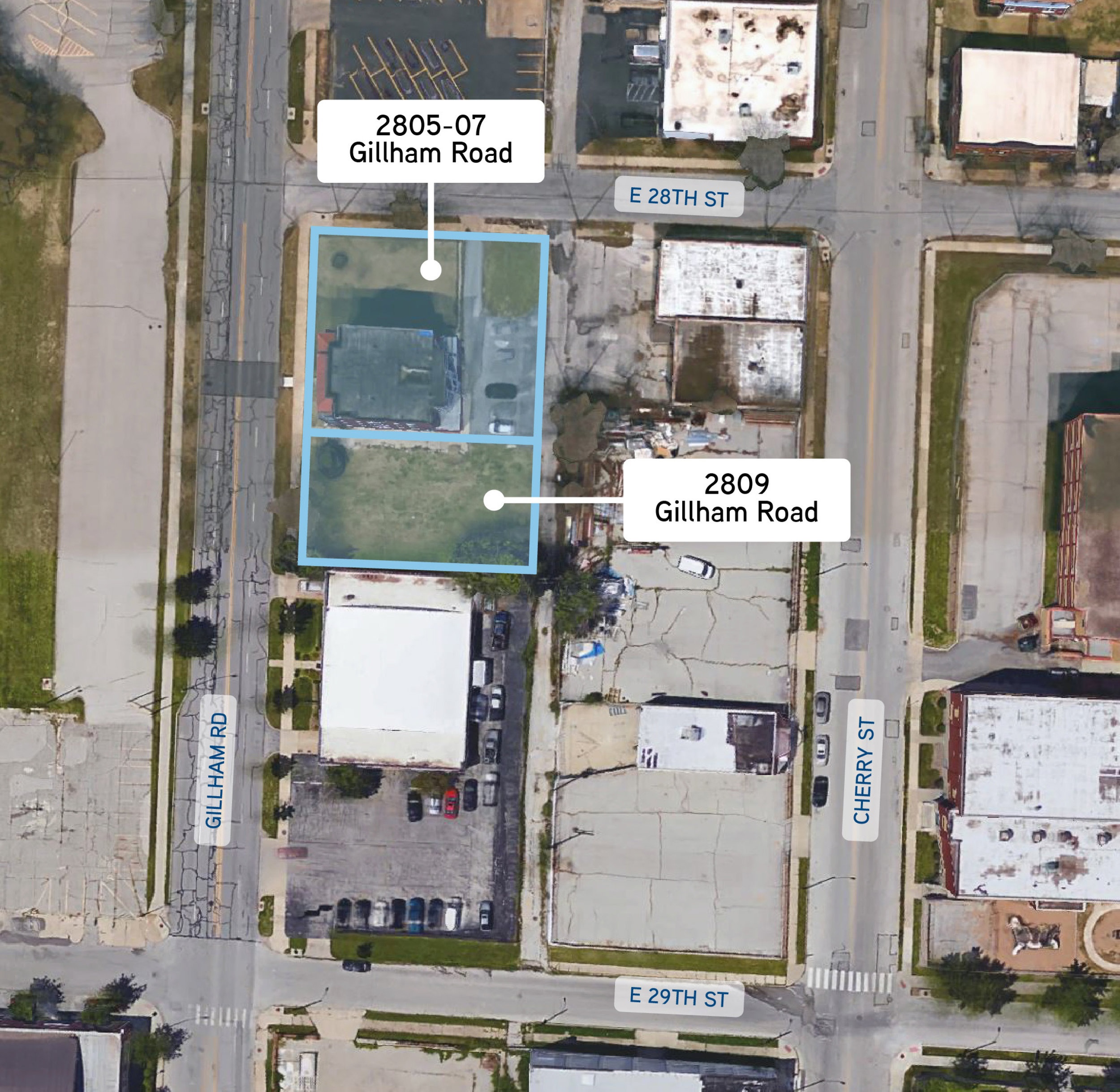The two parcels consist of a 12,636-square-foot multifamily property and an empty lot.