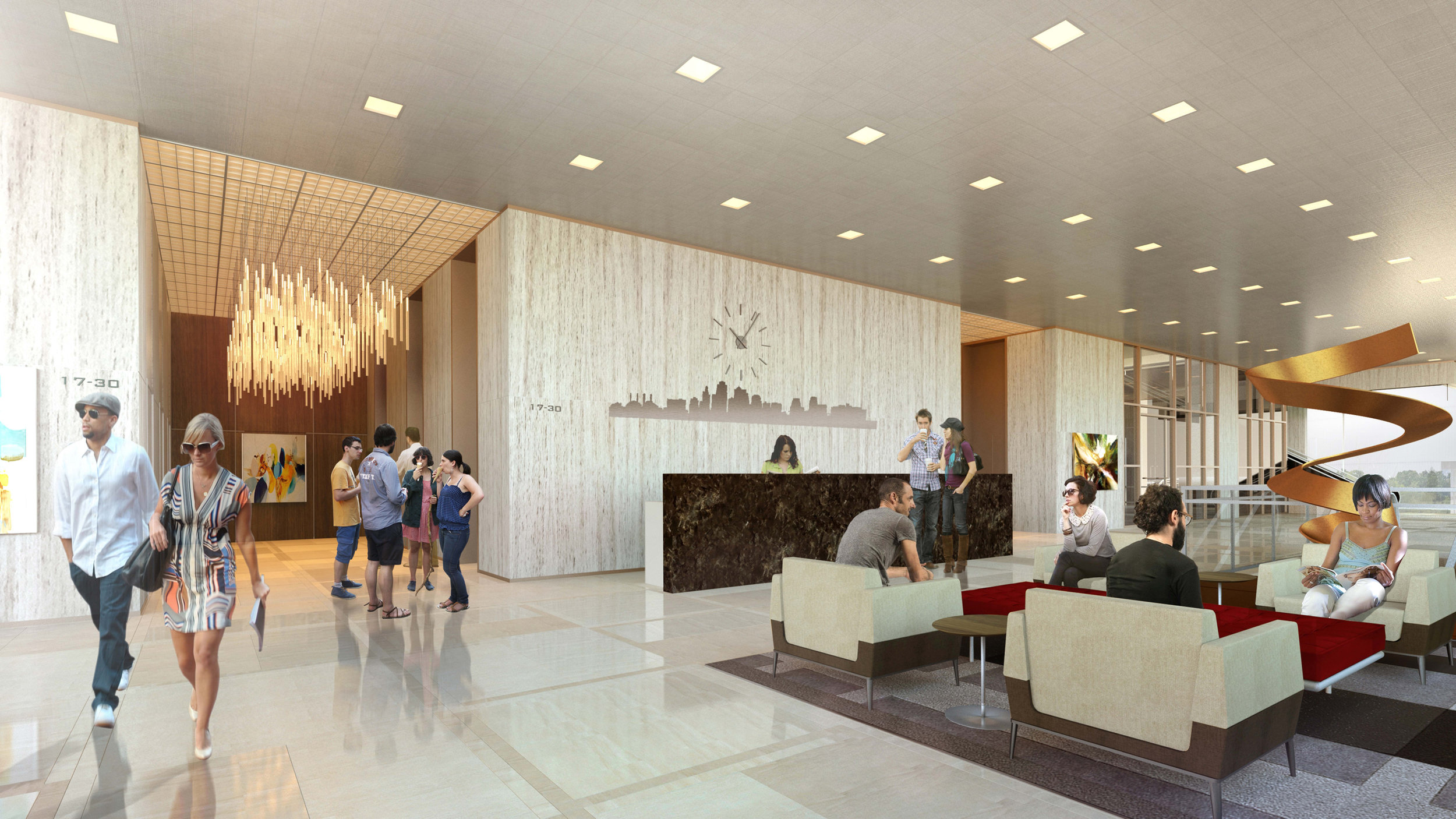 Commerce Tower is LEED Gold certified, which means that residents will see a 30 percent reduction in their energy bill.