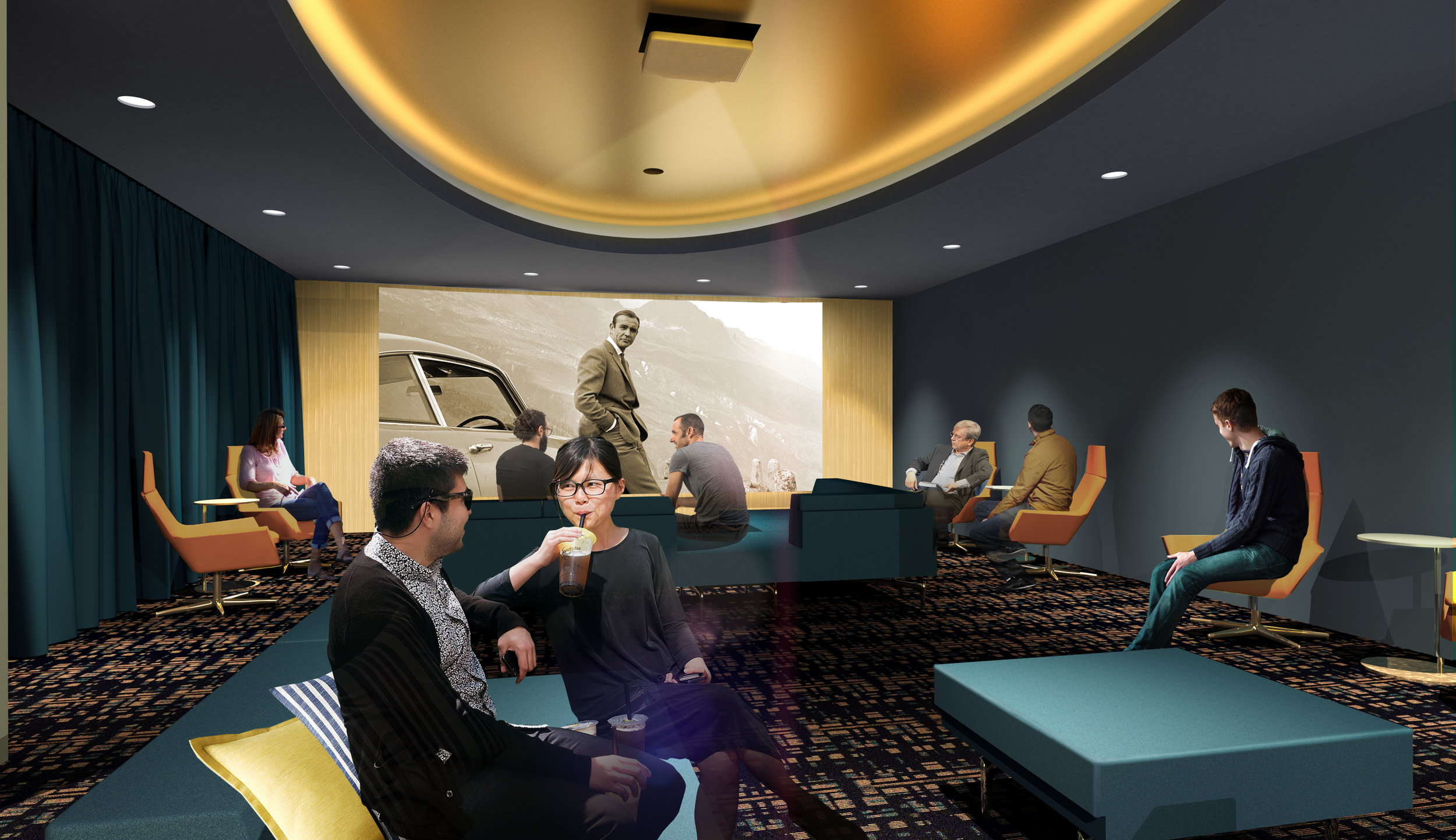 Residents will have access to a HD movie theater on the building's 17th floor.