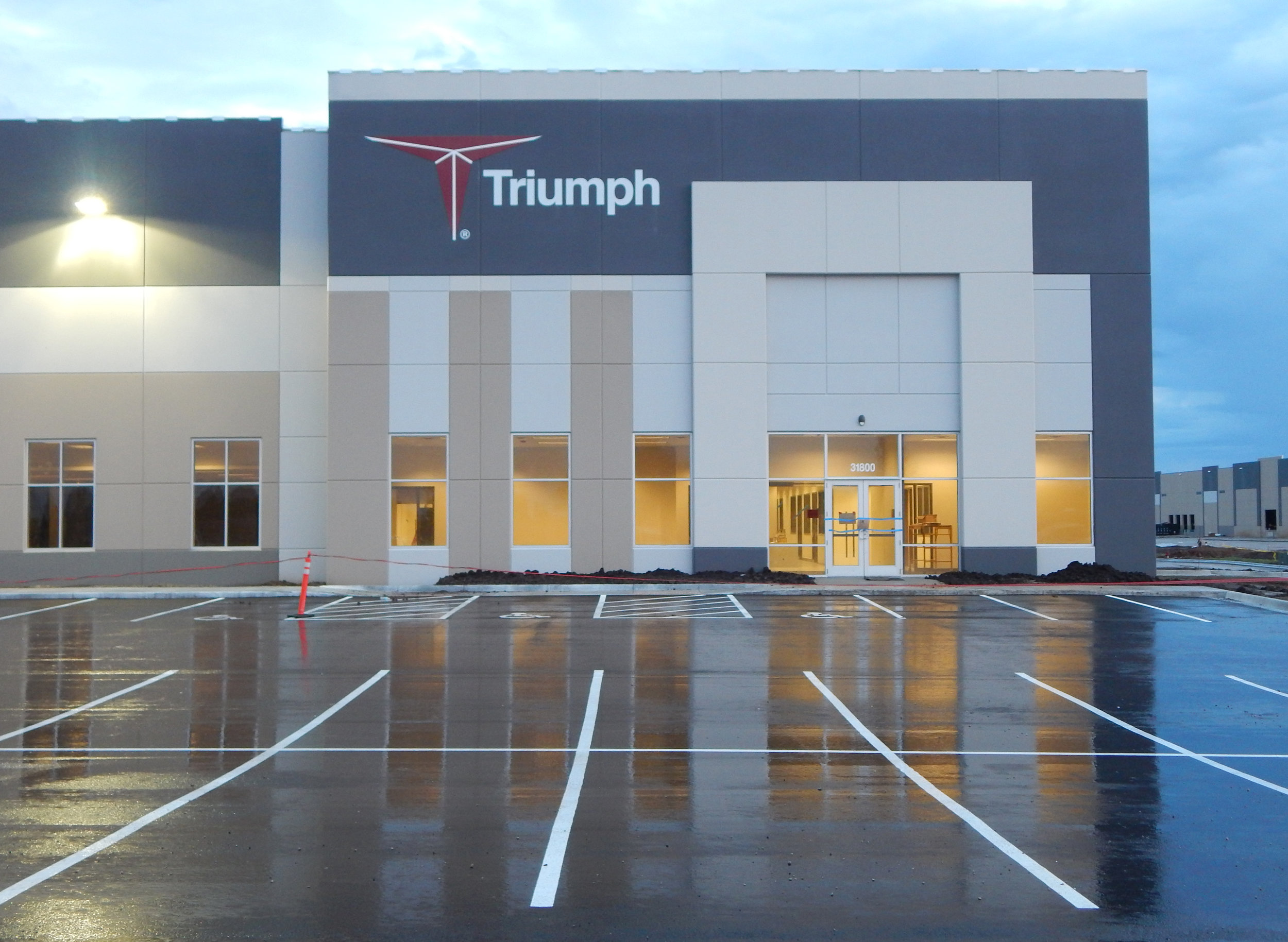 Triumph's new Small and Medium Parts Center of Excellence factory is now open at Logistics Park Kansas City in Edgerton.