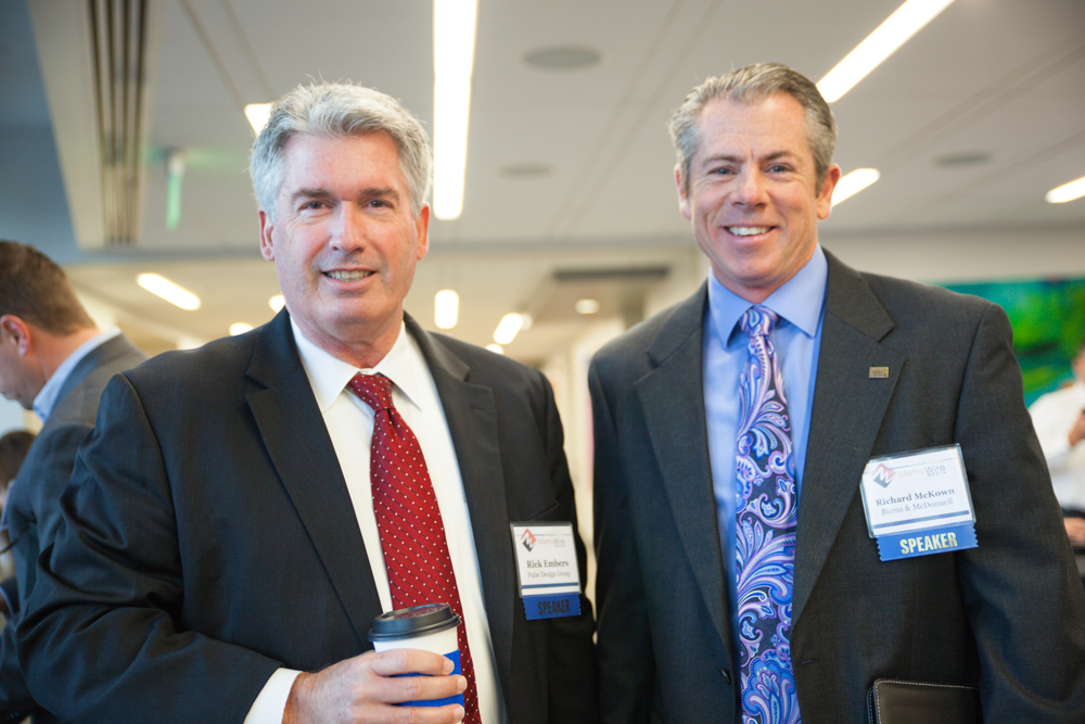 Rick Embers of Pulse Design Group and Richard McKown of Burns & McDonnell.  Photo by Jacia Phillips.