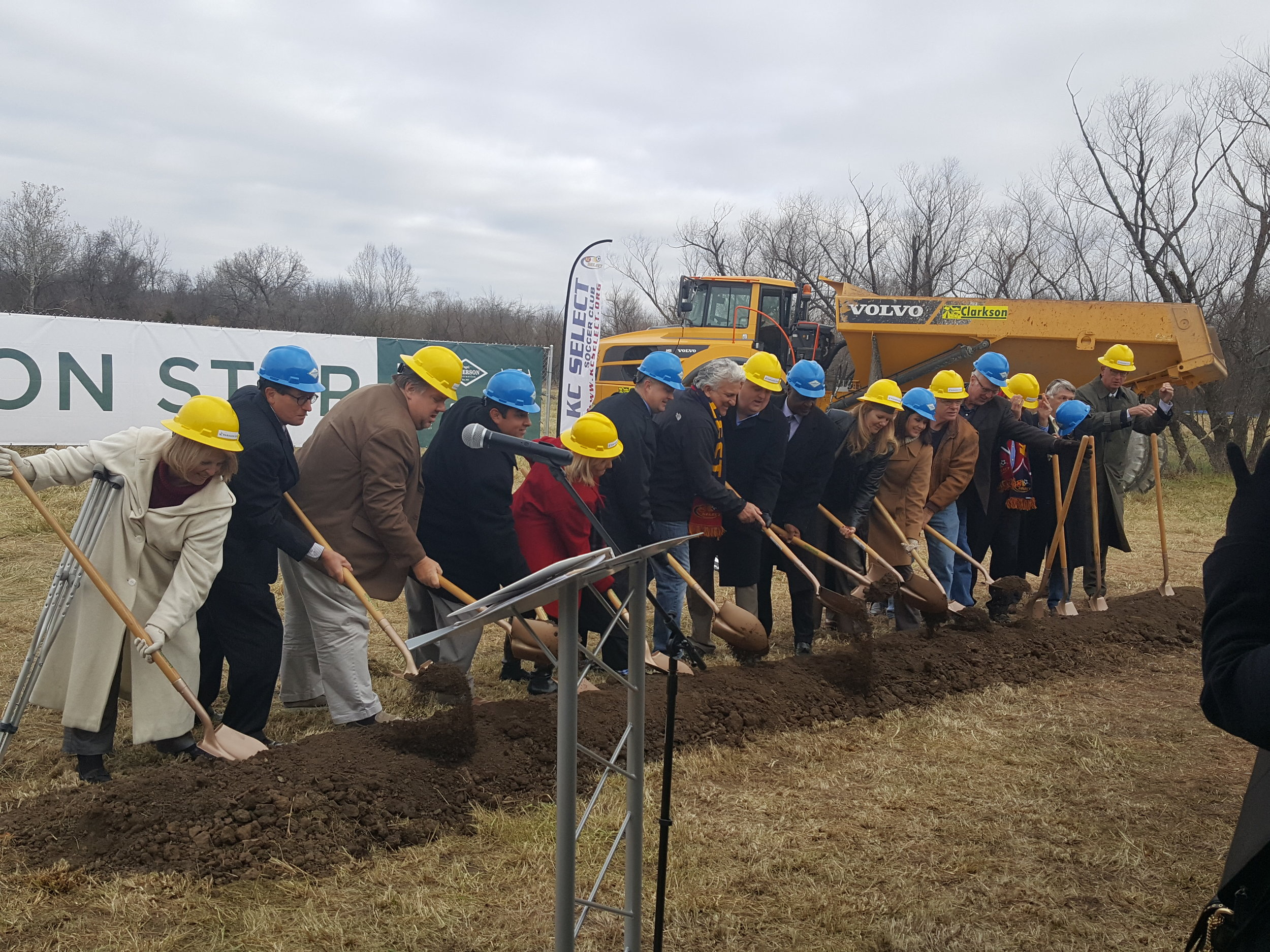Developers Flip Short and Bill Brown along with state and local dignitaries led the Paragon Star groundbreaking ceremony Wednesday morning.