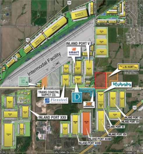 Spectrum Brands will move into Inland Port XXXIII at LPKC, pictured here toward the bottom righthand corner. [Click to enlarge]