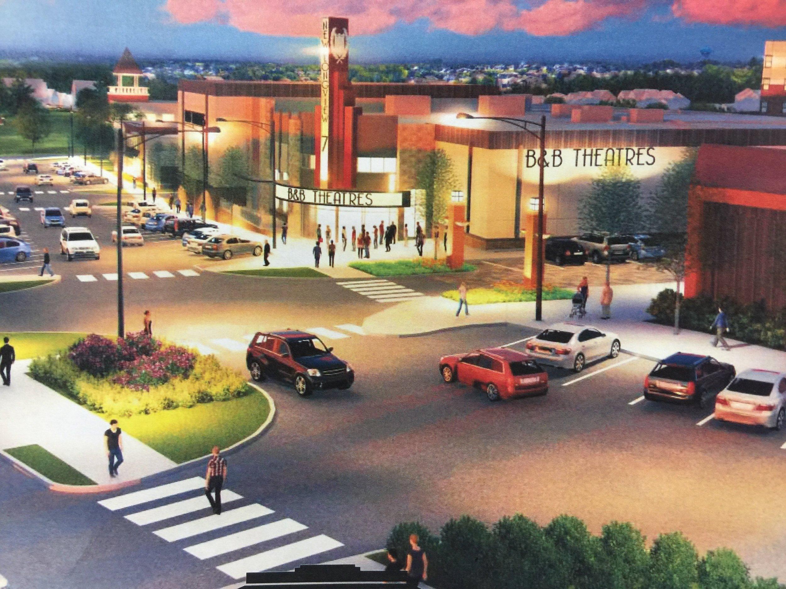 Rendering of B&B Theatres New Longview 7.
