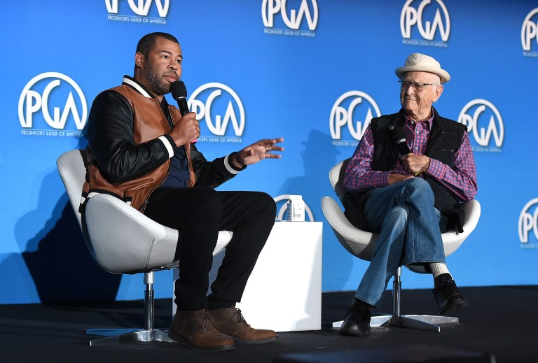 Jordan Peele and Norman Lear attend the 9th annual Produced By Conference at Twentieth Century Fox on Sunday, June 11, 2017 in Los Angeles. Photograph by Jordan Strauss/Invision for Producers Guild of America/AP Images