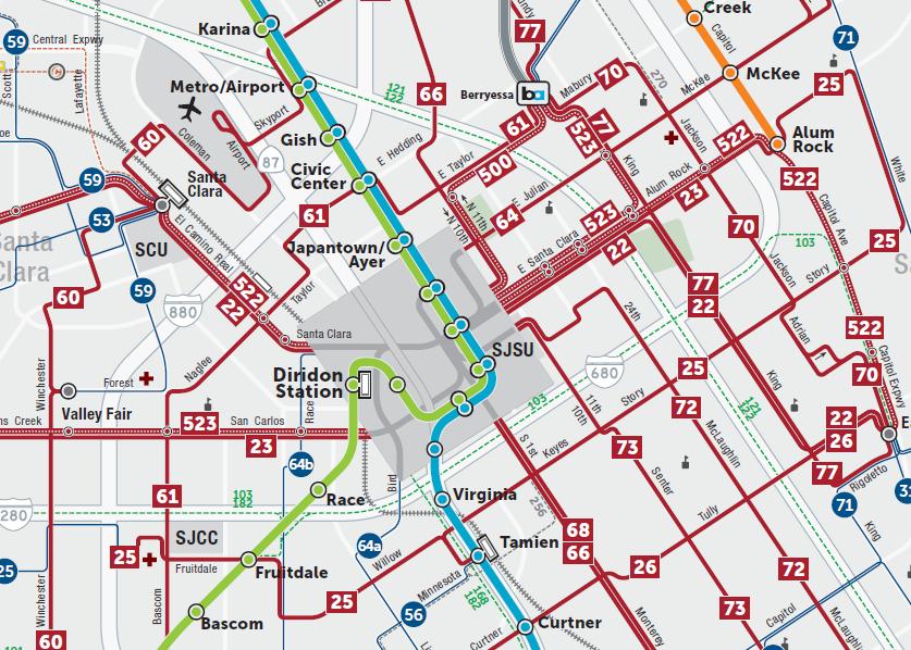 2019년 새 교통 서비스 최종 계획 시스템 지도  (PDF)