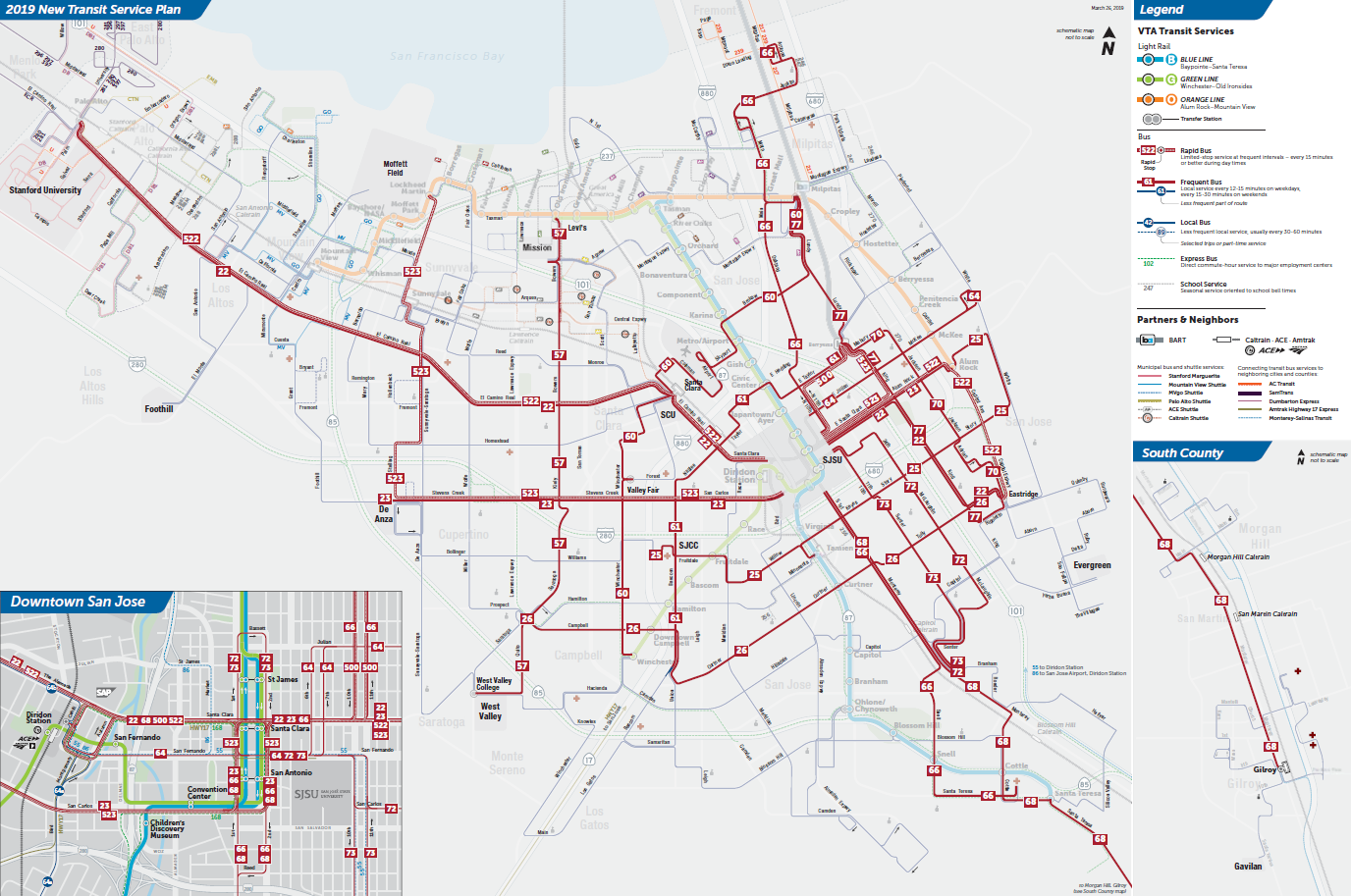 Bản đồ Tuyến Xe Thường xuyên của Kế hoạch Dịch vụ Vận chuyển mới 2019 Chính thức  (PDF)