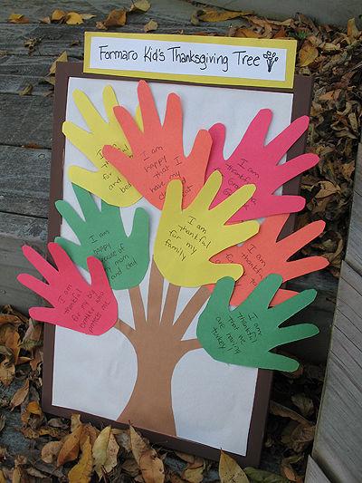 Thankful Hands Tree Craft