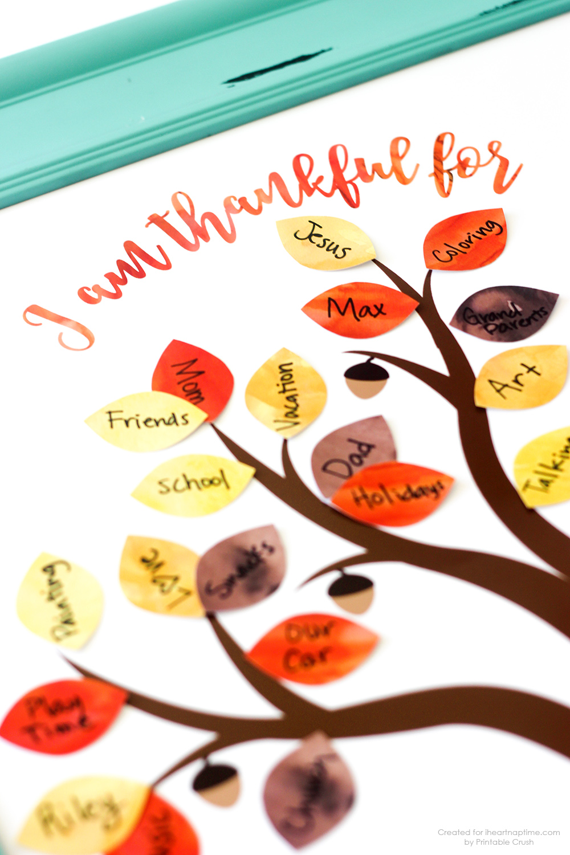 Free Thanksgiving Printable Thankful Tree