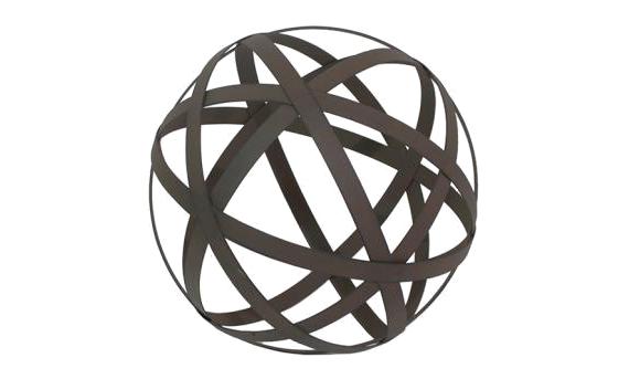 metal orb : small : bronze : $19