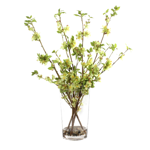 green faux blossoms - $187