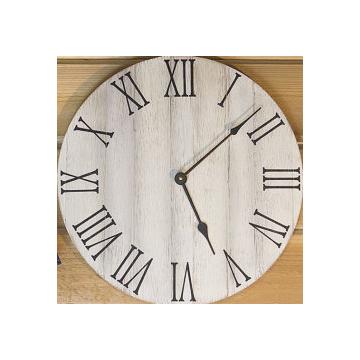 "farmhouse wall clock : 24"" : olde white : $90"