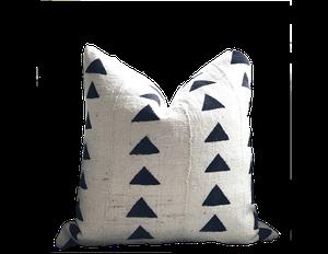 triangle mudcloth pillow cover : cream: $64