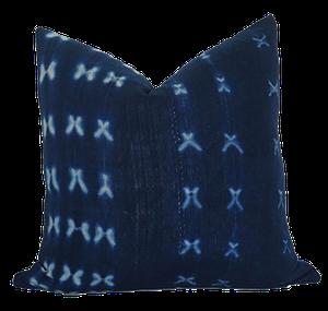 Vintage x mudcloth pillow cover : indigo: $64