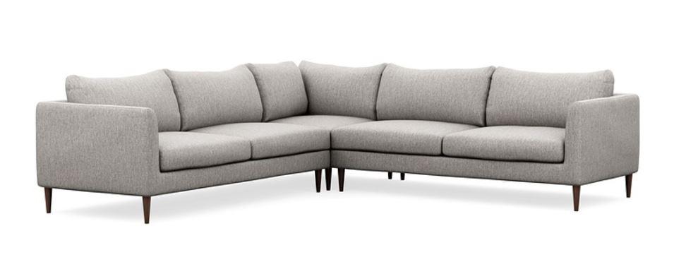 owens corner sectional : earth cross weave : oiled walnut legs : $2500
