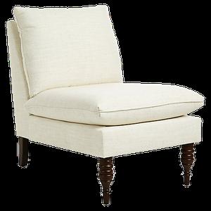 daphne slipper chair : talc linen : $485