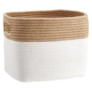 tonal rope basket : natural w/ white : medium : $25
