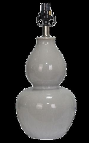Large ceramic double gourd gray lamp base: $35