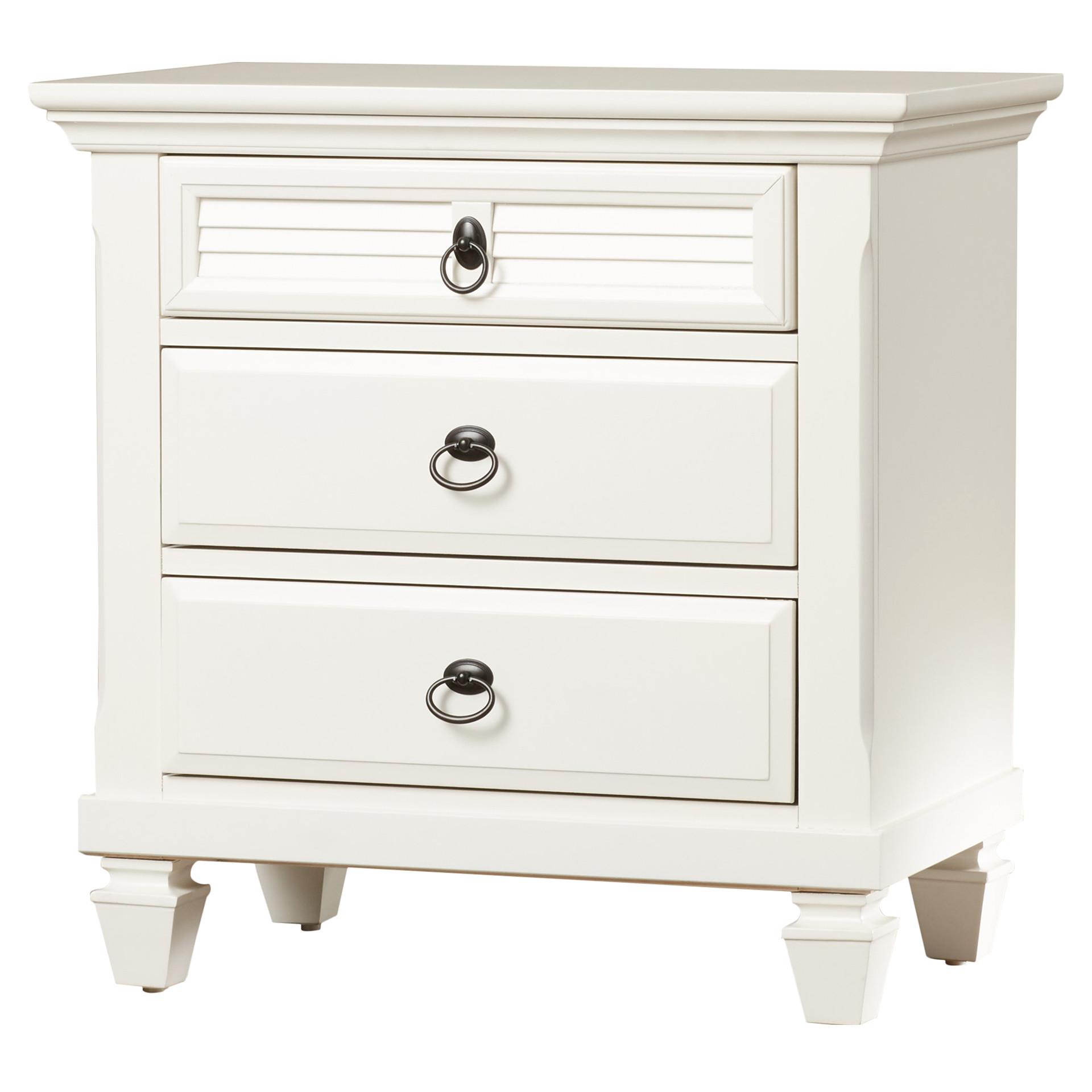 norfolk 3 drawer nightstand : $174