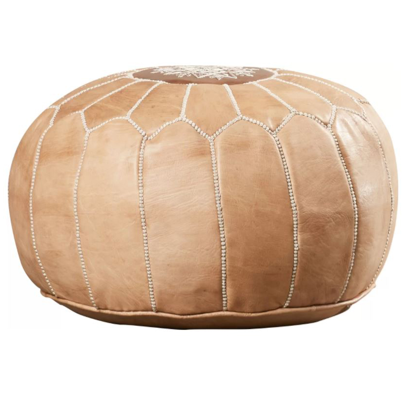 LEATHER POUF -