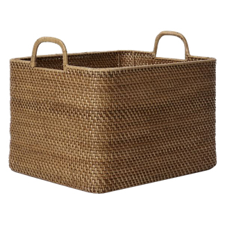 decorative basket for throws -