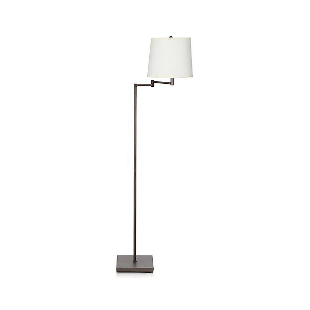 bronze - Adams Bronze Swing Arm Floor Lamp