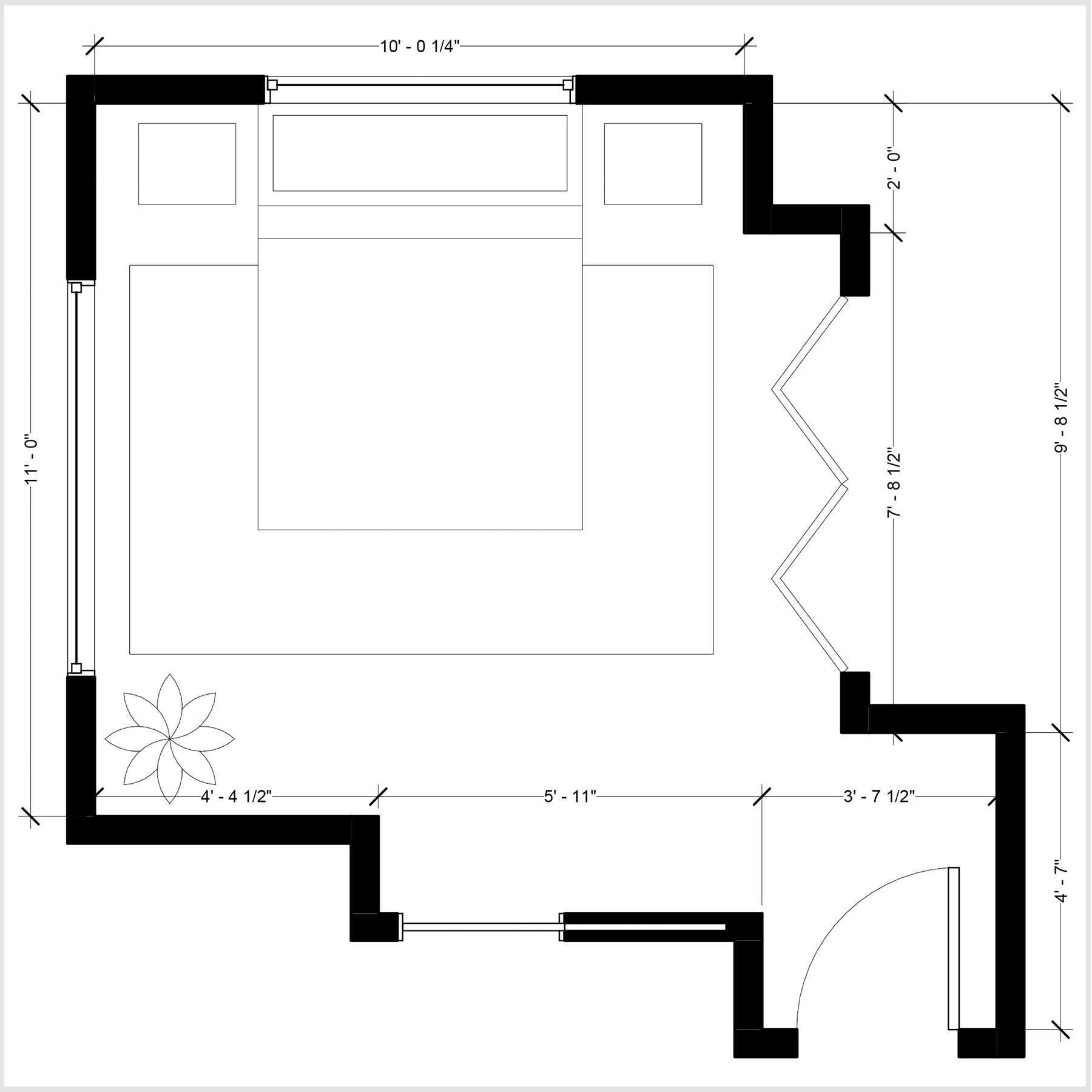 2: Furnishing Design in a Day - Floor Plan with suggested layout