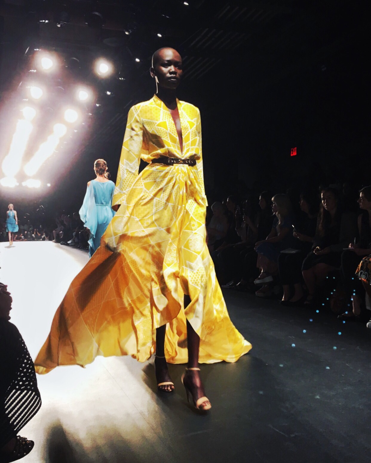 Stunning gold gown by Oday Shakar, from his Fashion Week debut.