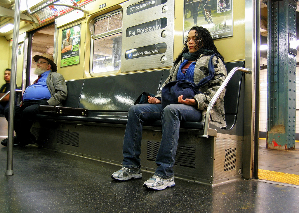 Today was day 19 of my 21-day #blissmore meditation challenge. I meditated on the subway. It was loud, but I did it! No excuses. #blissmorechallenge