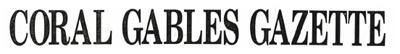 Coral Gables Gazette