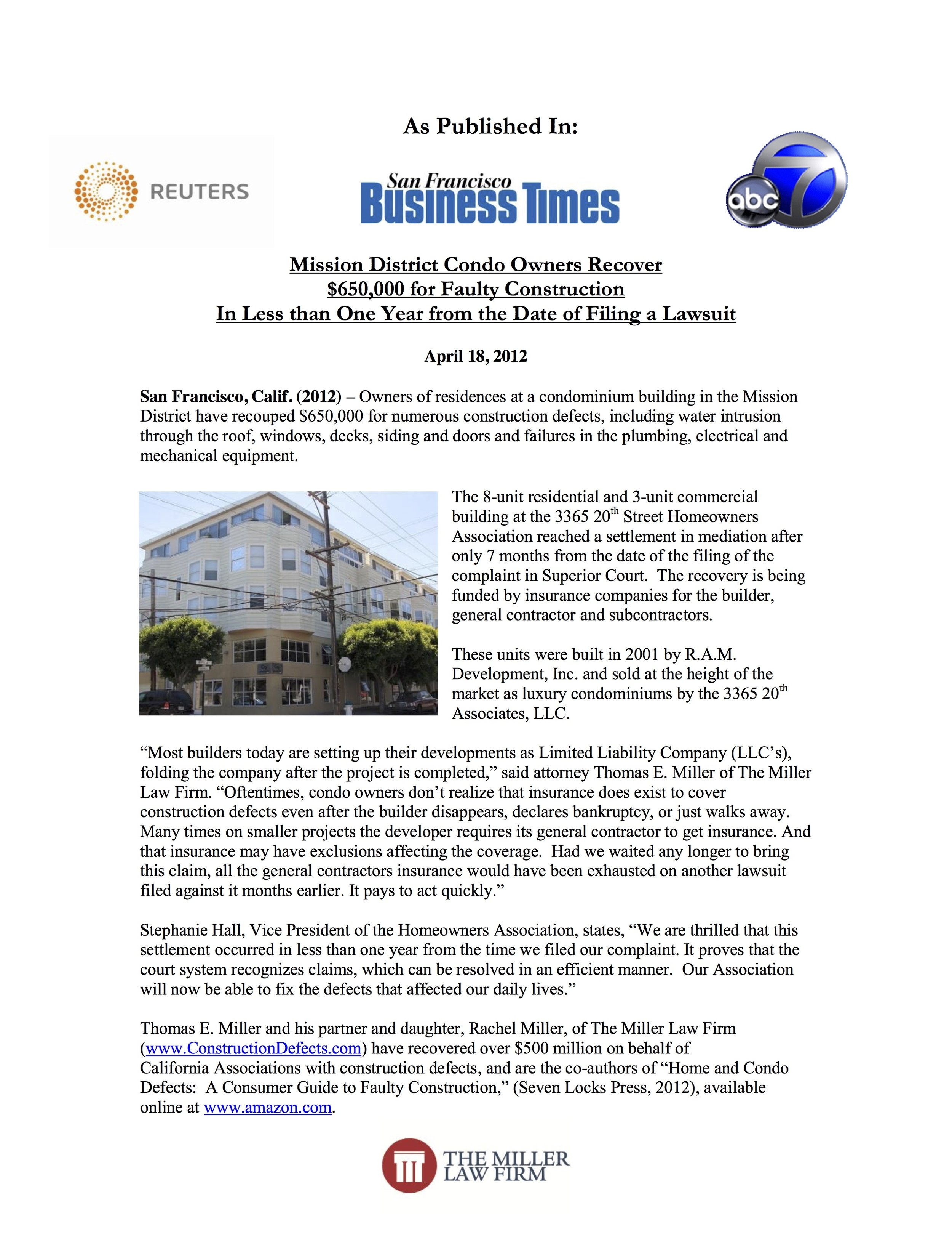 SF Business Times - 3365-20th-Press-Release