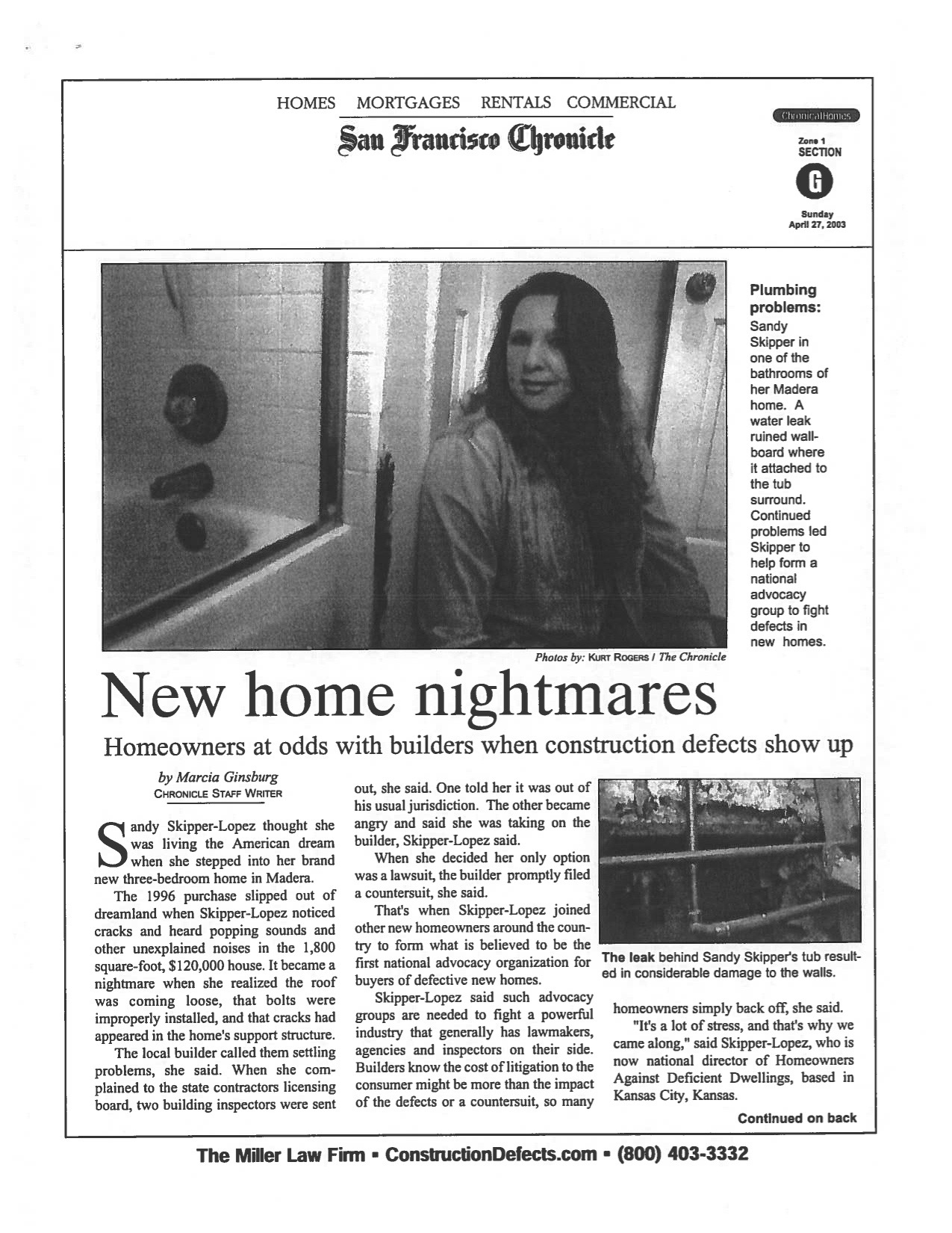 SF Chronicle - New Home Nightmares