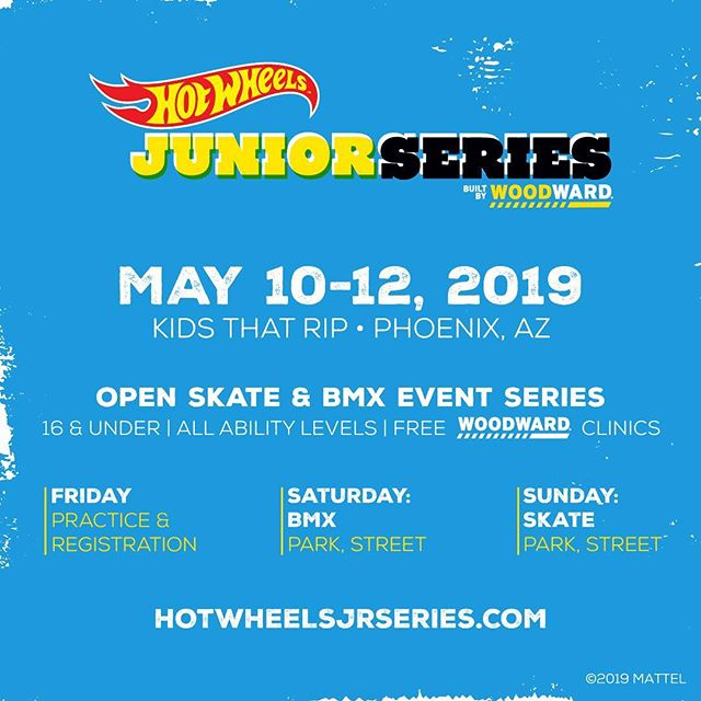 #hotwheelsjrseries at KTR May 10-12. We are going to have full skate and BMX squad in the house. KTR has an awesome bowl, who's coming out the shred it? See you there!! @hotwheelsofficial