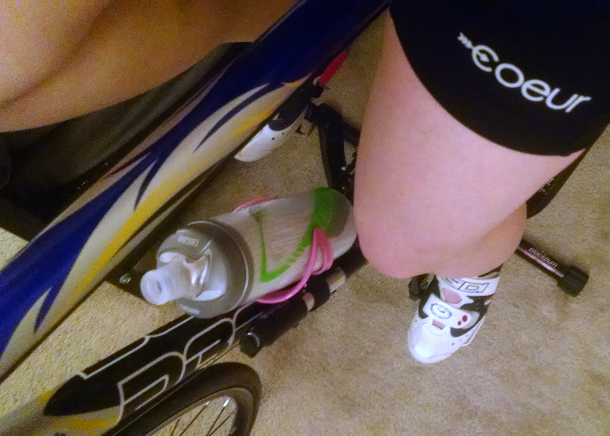 Very much digging my new coeur Sports 8 inch little black tri shorts.  Such a thin pad, but so comfy!