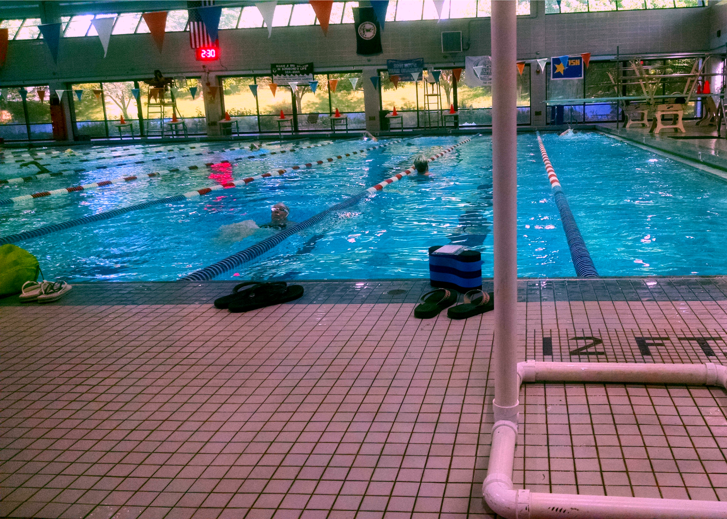 The pool is back to being my happy place.  Sometimes less pressure is good!