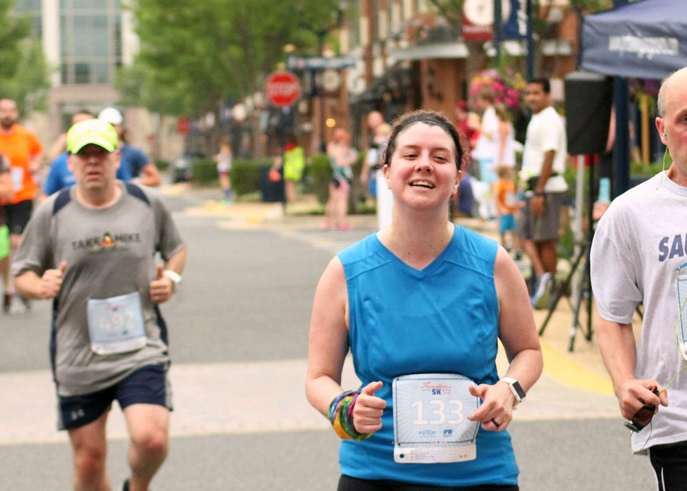 Hurray for free finisher photos to download!  Boo for yet another unflattering finisher photo.