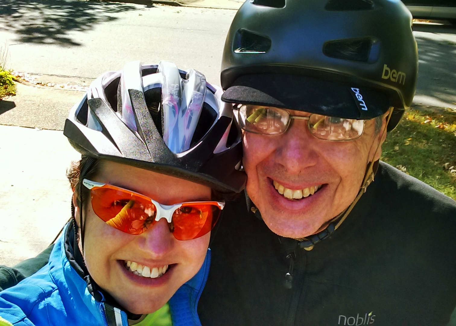 A year ago I never would have guessed that I would spend a Saturday afternoon on bikes with Dad