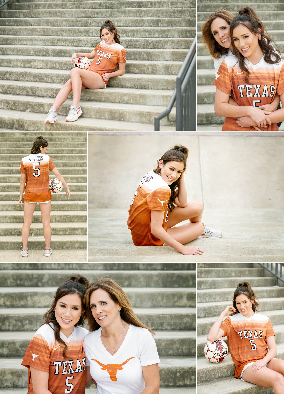 University of Texas soccer, high school senior portraits