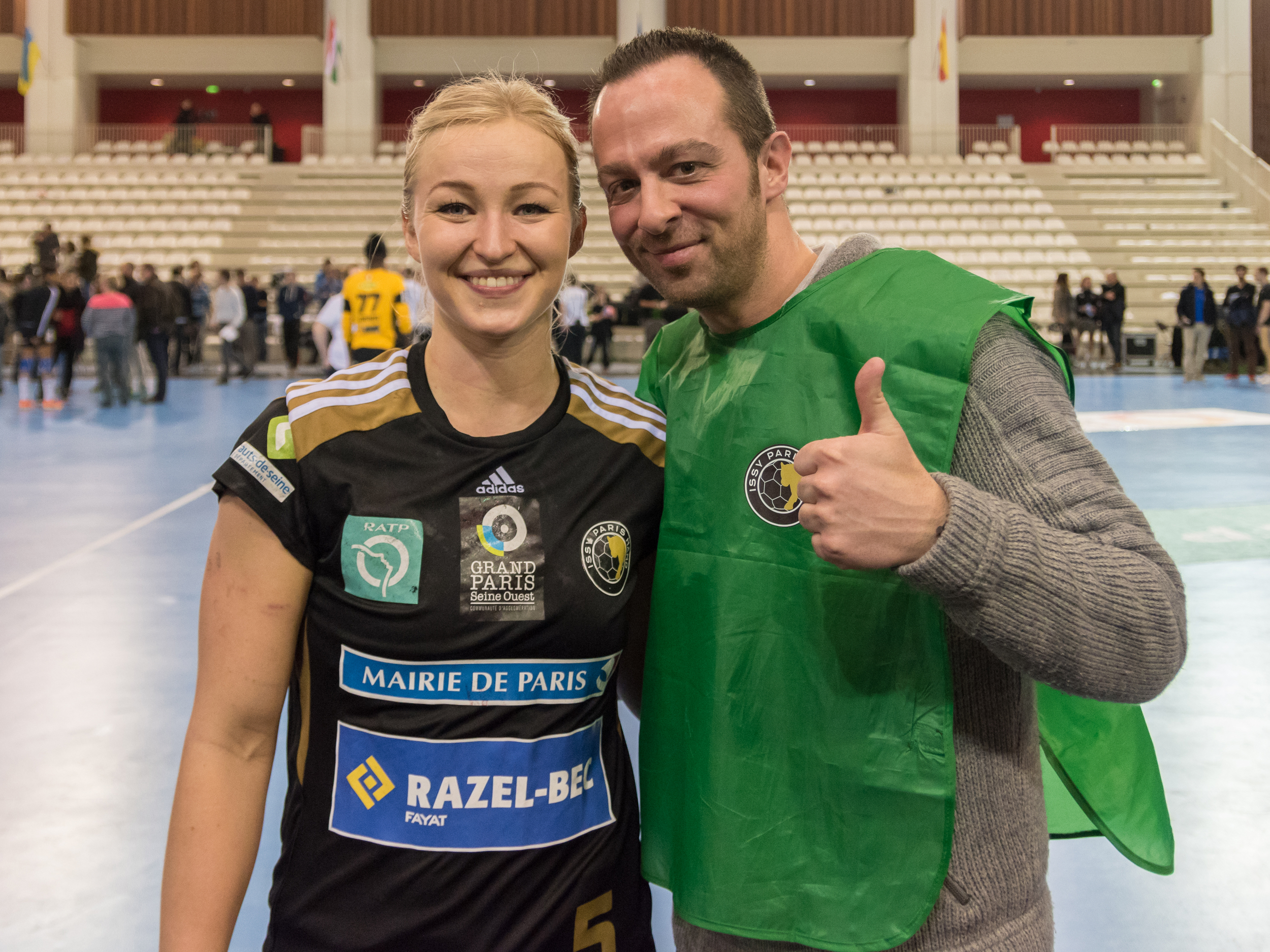 I couldn't leave without a picture with  Stine Oftedal  after the victory of Issy