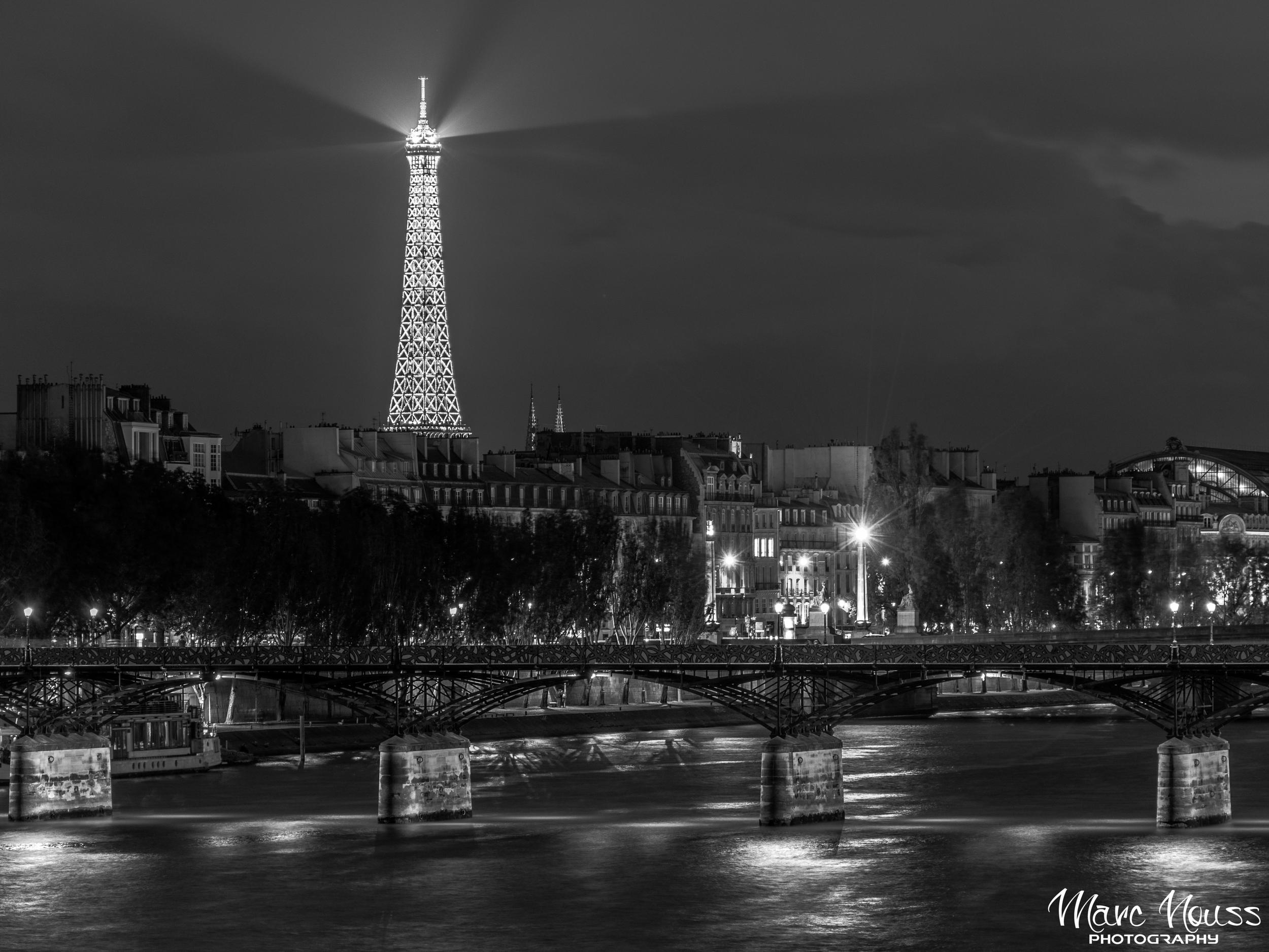 Eiffel Tower by Night over La Seine