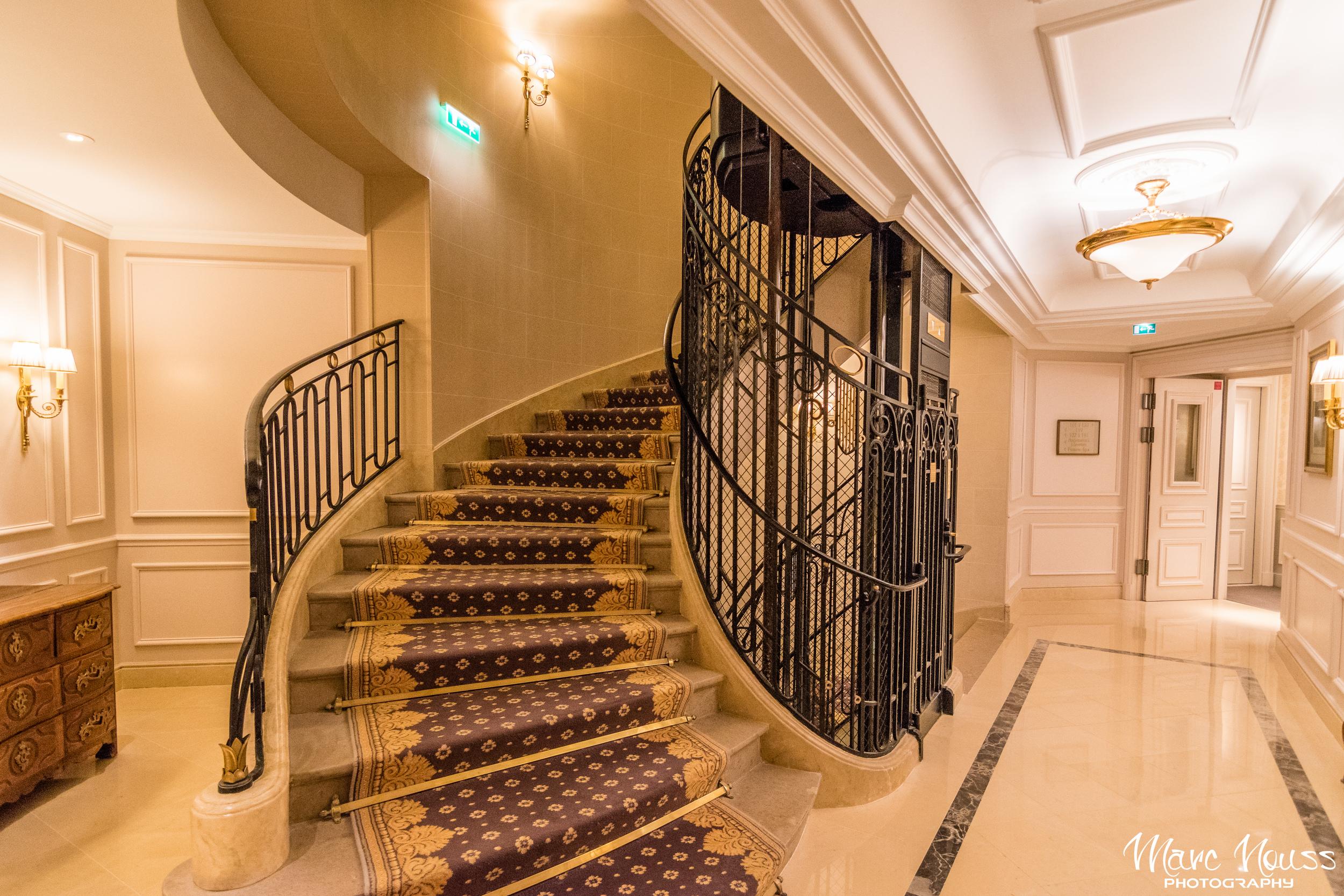 Beautiful old fashioned elevator