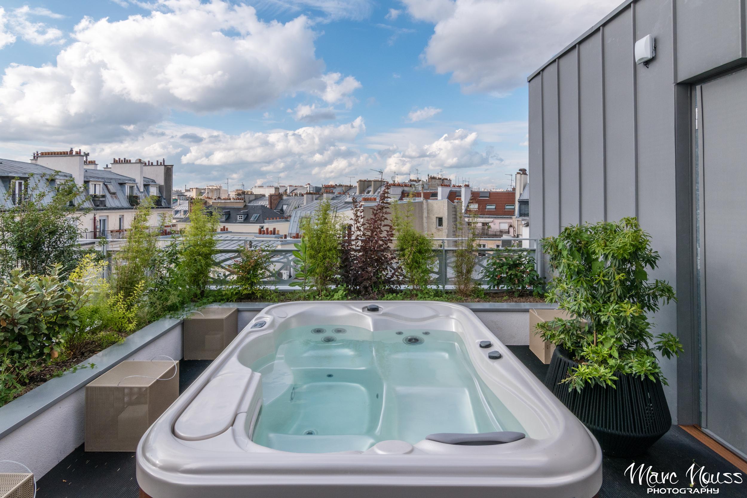 Spa Bath on the balcony