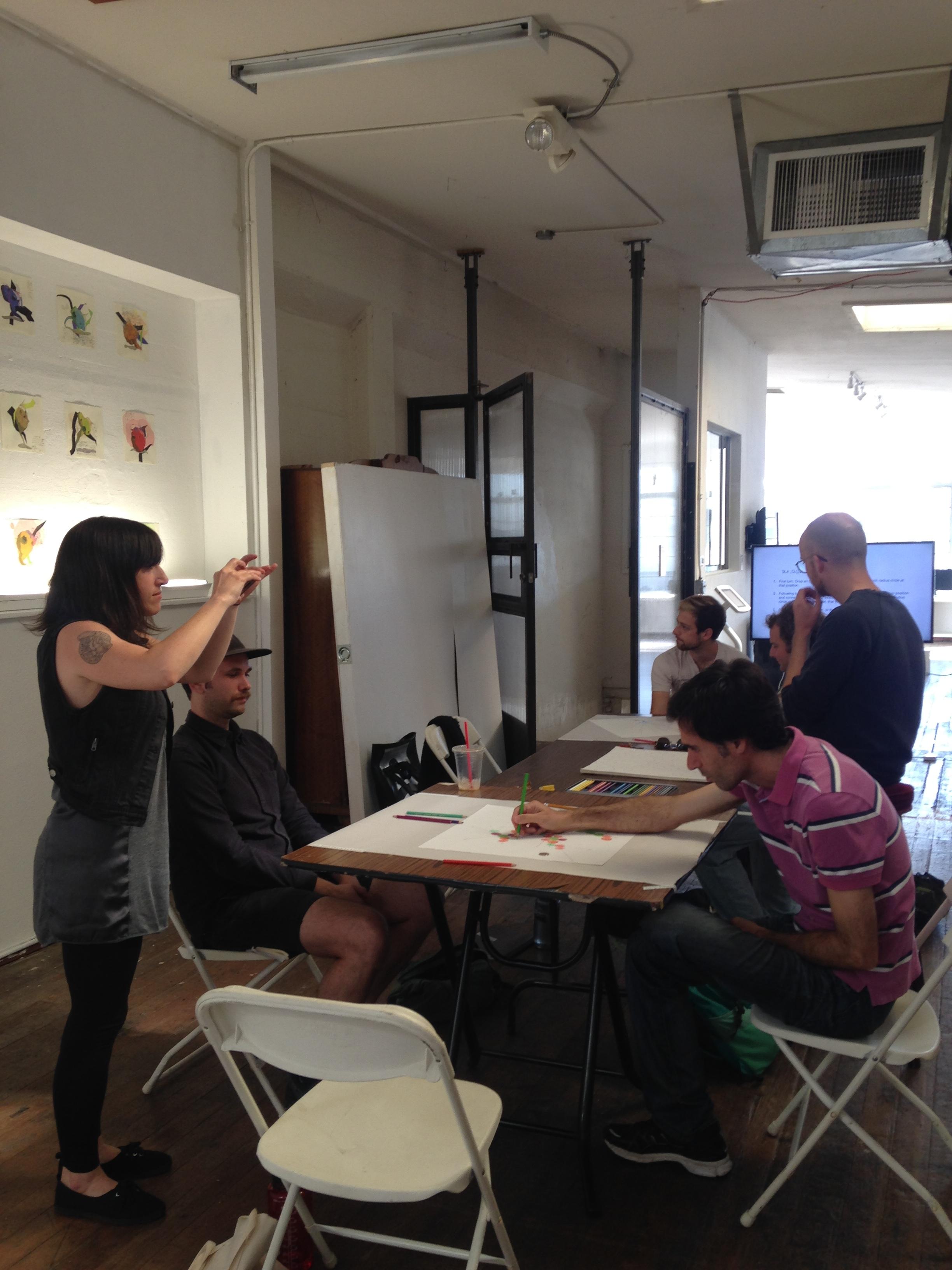 Workshop in progress.