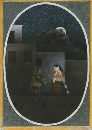 Guler-Bihari-Satai-Serie, no. 412 Indian, Pahari Region, c. 1780.Rietberg Museum, Zurich.