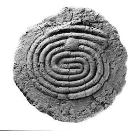Babylonian spiral labyrinth, 2000 BC