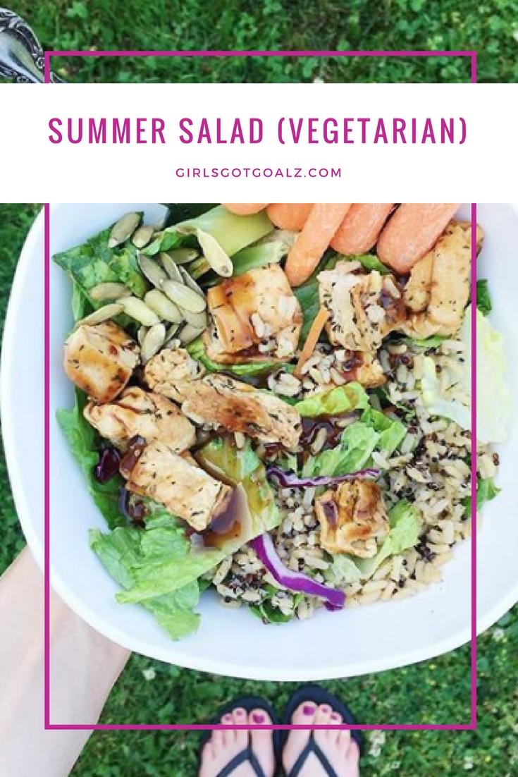 Summer Salad Recipe (Vegetarian!)