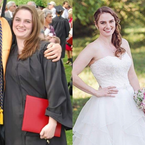 May 2012 to September 2017. Right photo © Rachel Lusky Photography